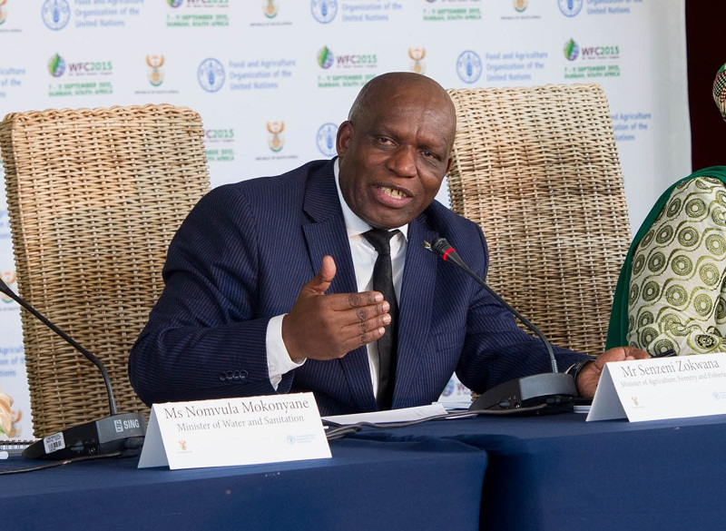 "(In the picture: Mr Senzeni Zokwana Minister of Agriculture, Forestry and Fisheries with Minister of Water and Sanitation Ms Nomvula Mokonyane and Dr Nkosazana Dlamini Zuma Chairperson of the African Union Commission addressing members of the media)<br /> Opening of the XIV World Forestry Congress at the iNkosi Albert Luthuli Convention Centre in Durban, KwaZulu-Natal. 07 September 2015.The XIV World Forestry Congress is a platform for governments, the private sector, foresters, academics and the civil society to exchange views and innovations impacting on the broader forestry sector. The Congress is an event of the United Nation's Food and Agriculture Organisation (FAO) and the theme for this year is ""Forestry and People: investing in Sustainable future""."